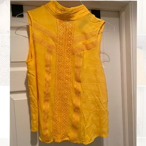 7th Avenue NY&Co. Yellow Top with Tie Back